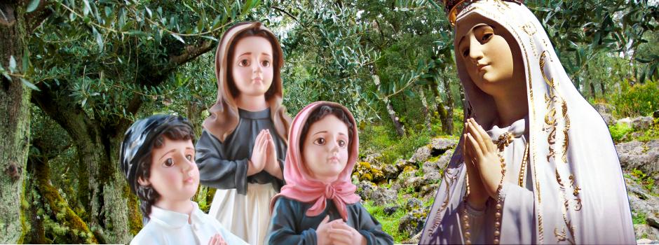 figurki fatimskie, dewocjonalia, figura mb fatimskiej z portugalii, figura matki boskiej fatimskiej z portugalii